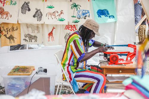 Druckwerkstatt auf den Afrika Tagen in München