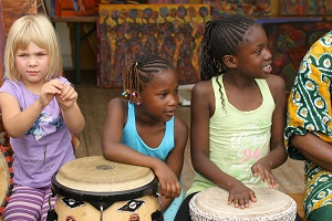 Trommelsessions mit Kindern